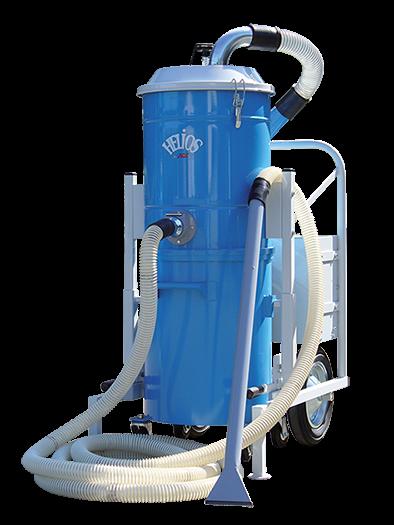 Sistema de sand blast sin polvo por recuperación neumática del abrasivo helios